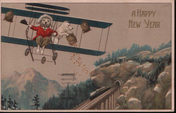 New Year biplane