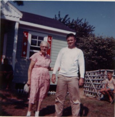 Auntie David at cottage 63